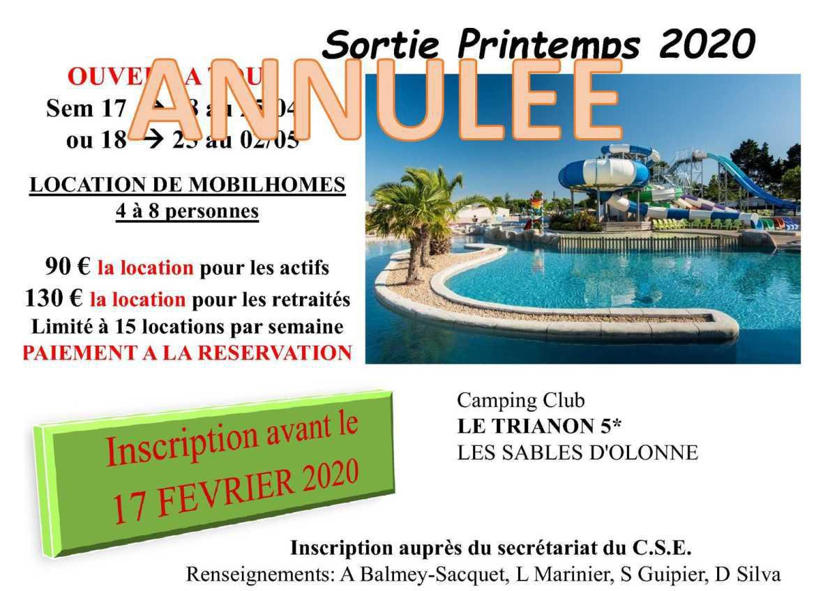 Sortie Printemps >> Les Sables d' Olonne >> ANNULEE