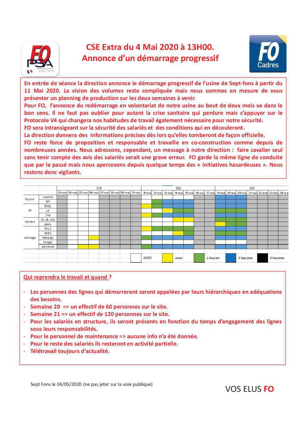 Compte rendu complet du CSE du 4 Mai 2020.