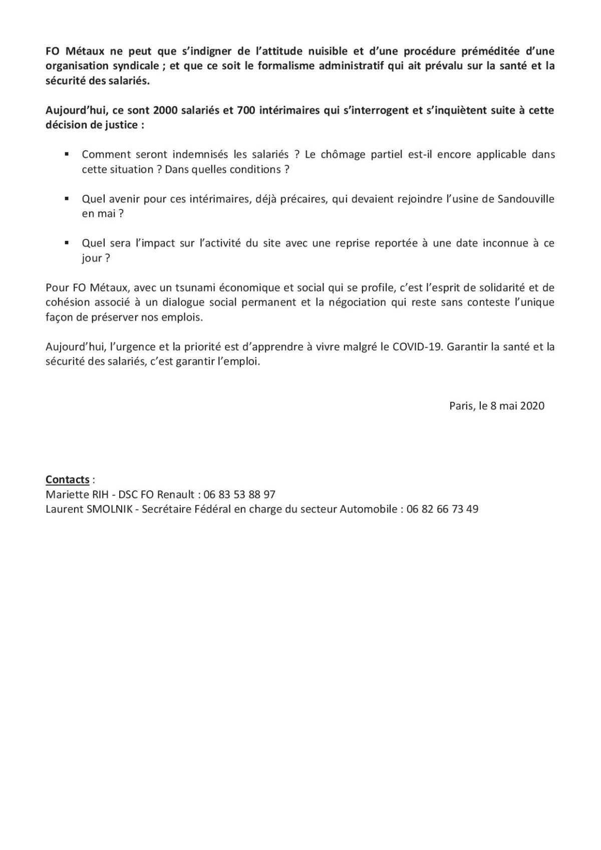 Explication de l'arrêt de l'usine Renault Sandouville