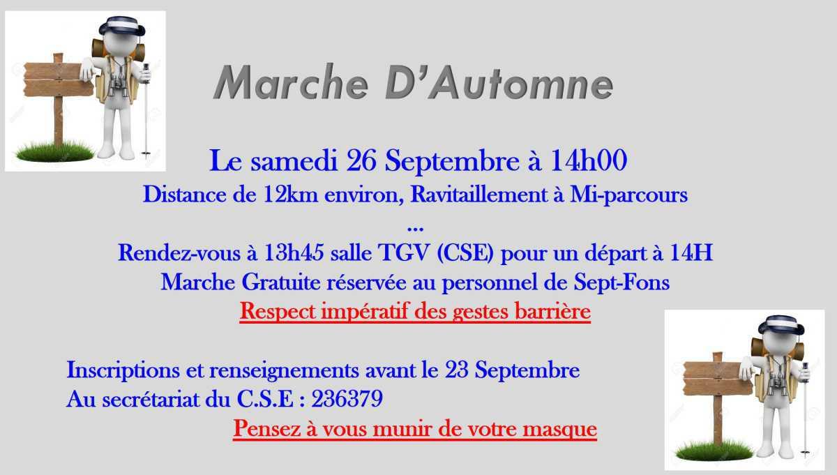 Marche d'Automne 26 septembre 2020
