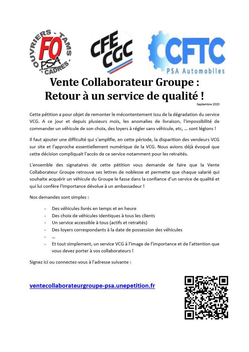 PETITION Vente Collaborateur Groupe