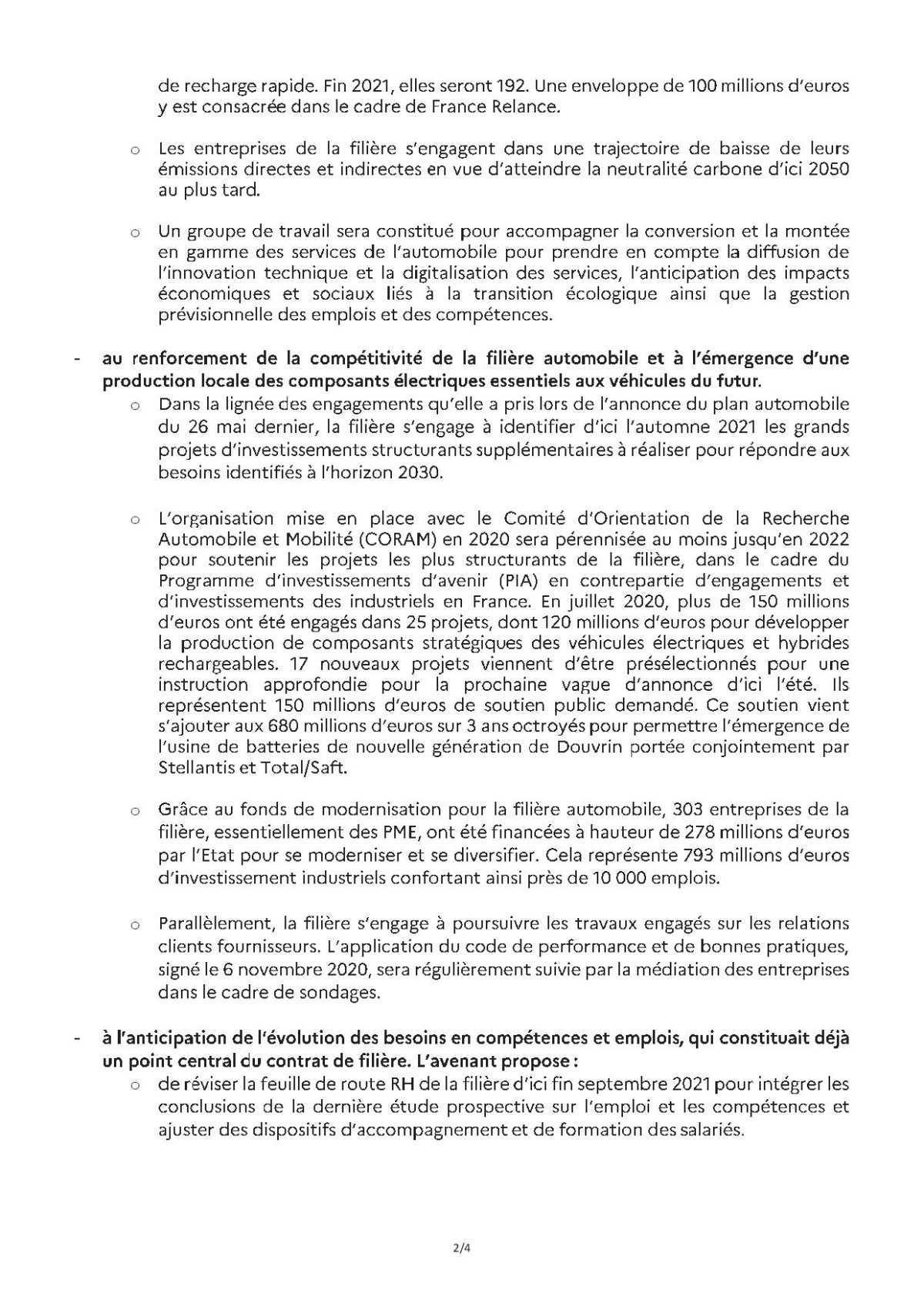 Communiqué de presse de Bercy sur le plan d'action des fonderies.