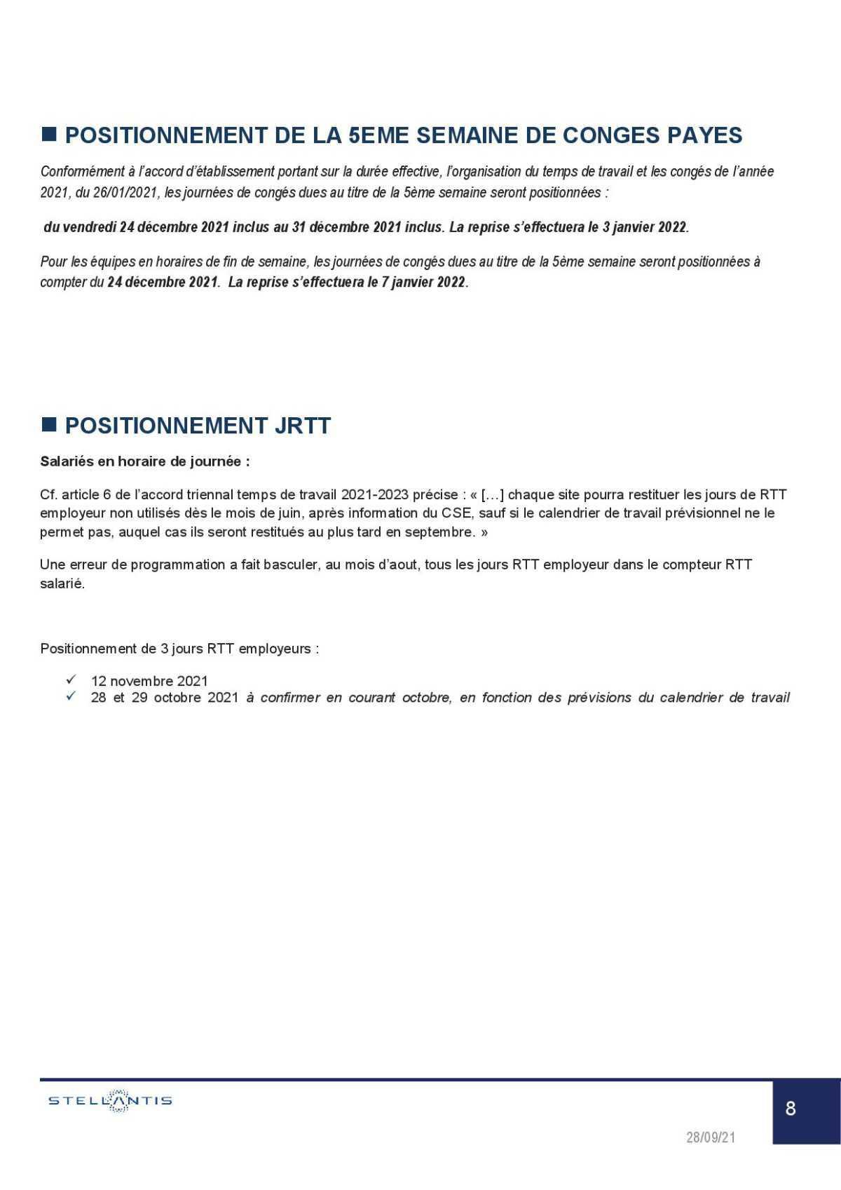 Compte rendu complet du CSE du 28 Septembre.