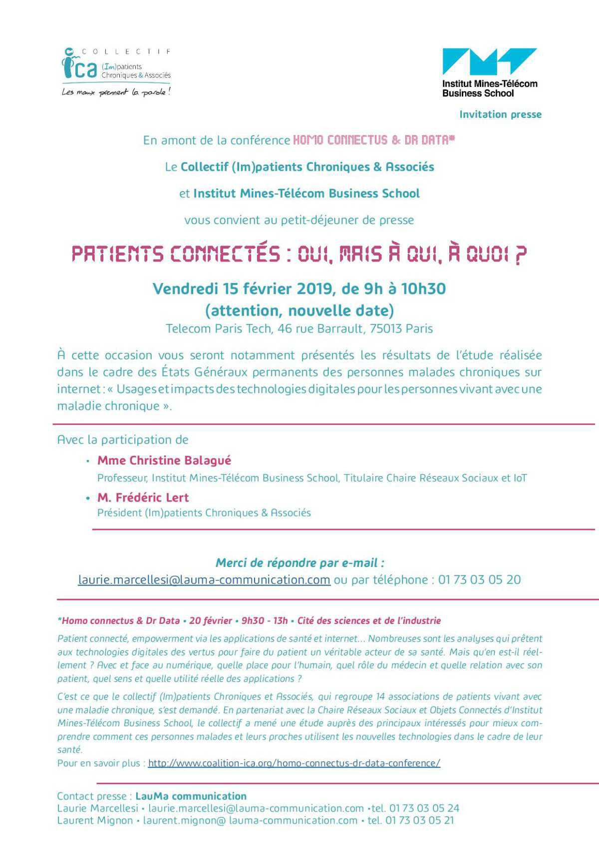 Etude sur les patients connectés