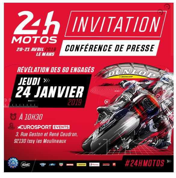 24 Heures Motos - Conférence de presse