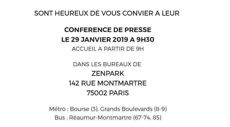 Zenpark/EDF/RATP - Conférence de presse commune
