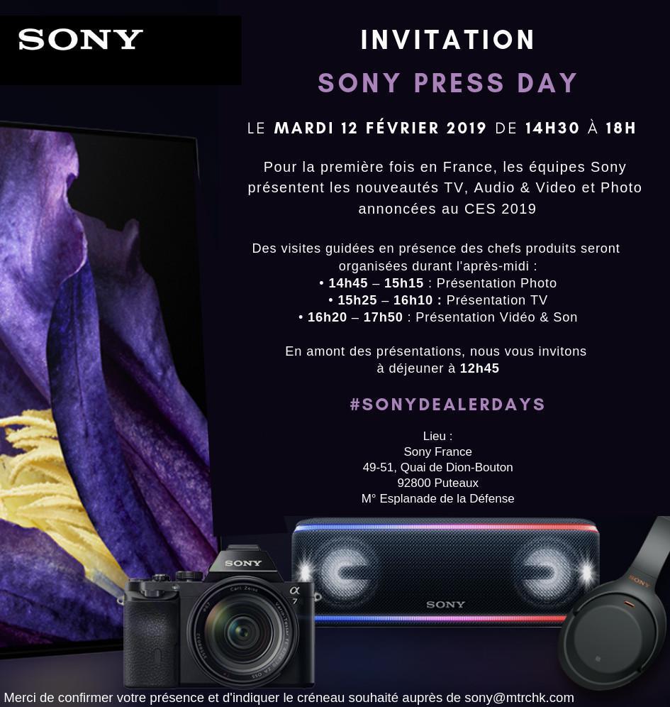 Sony Press Day