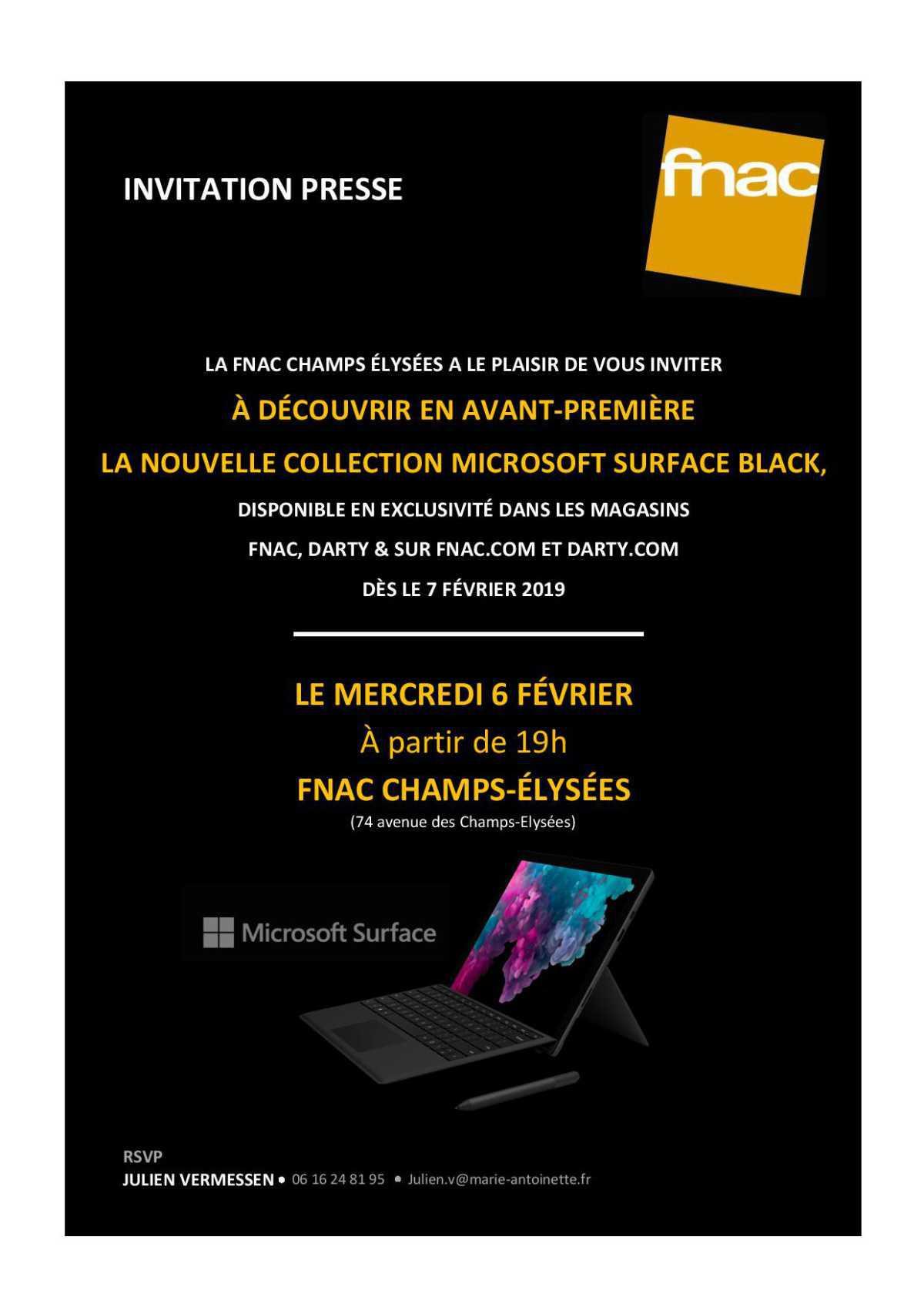 Fnac / Microsoft Surface Black