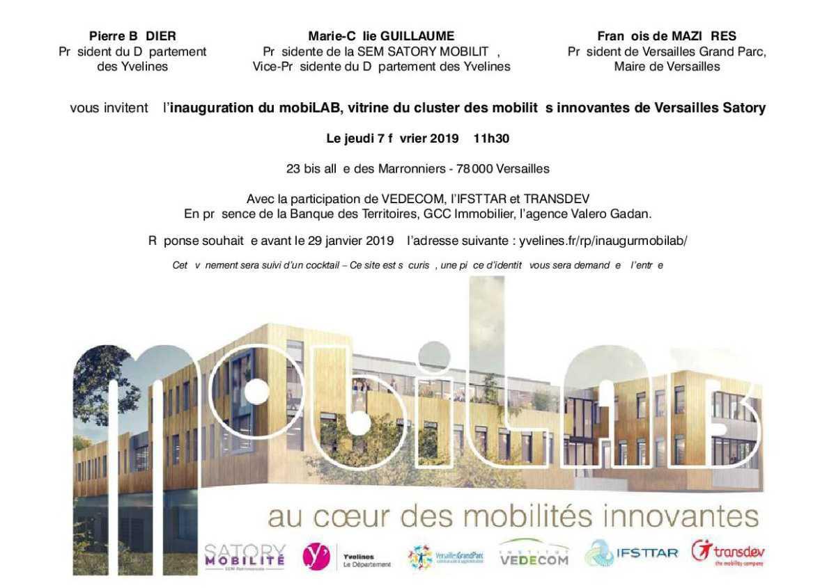 Inauguration du mobiLAB de Versailles-Satory