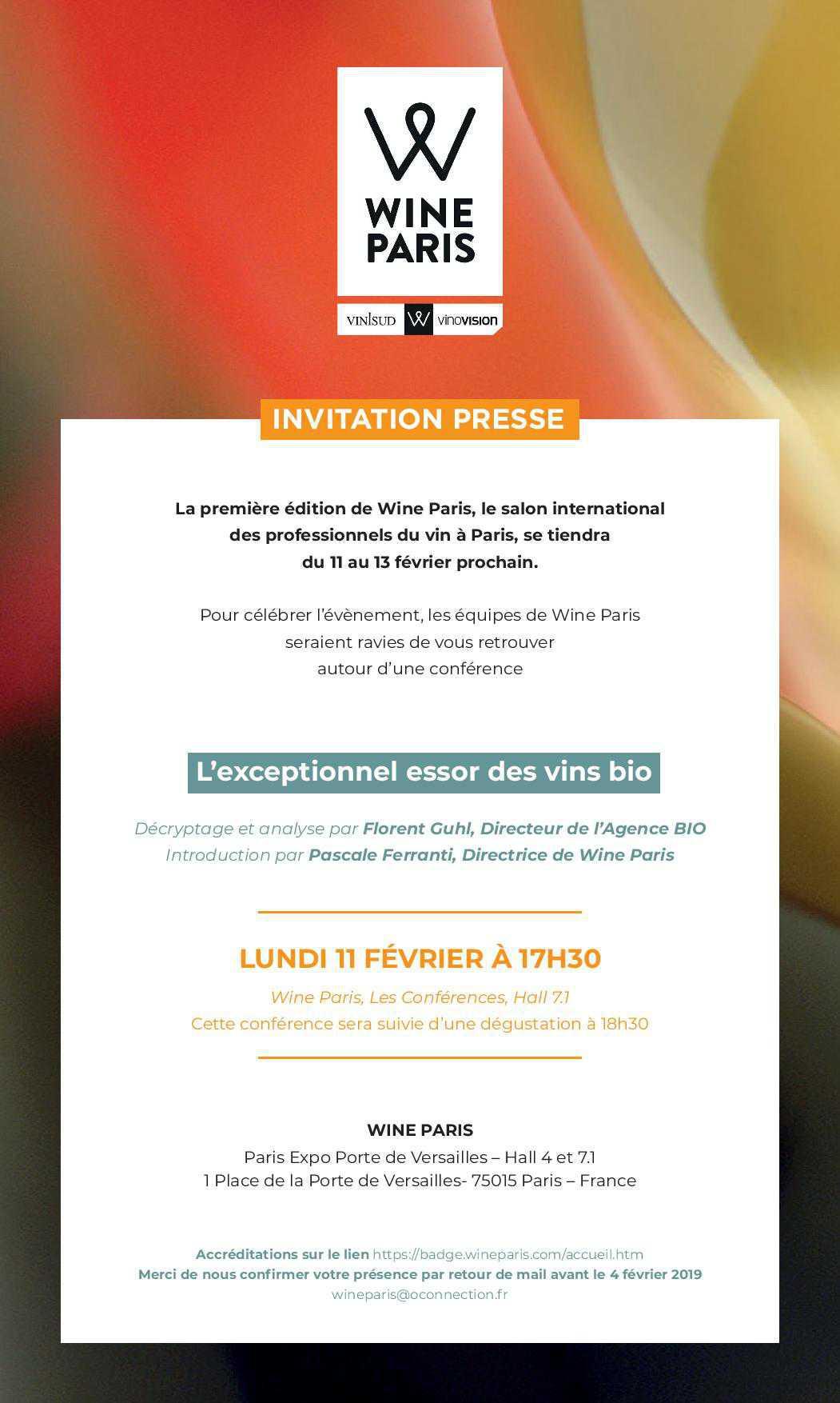 Wine Paris 2019 : L'exceptionnel essor des vins bio - Hall 7.1