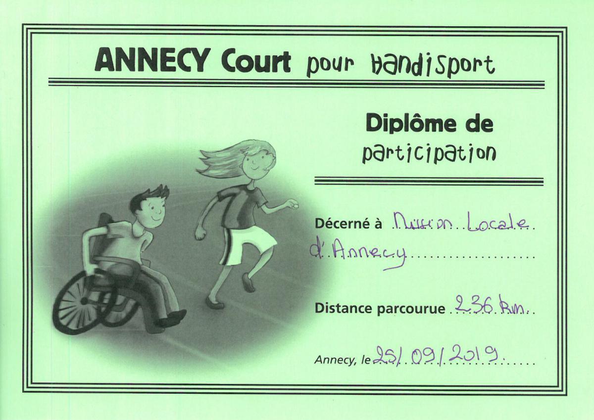 Annecy court pour Handisport, on y était !