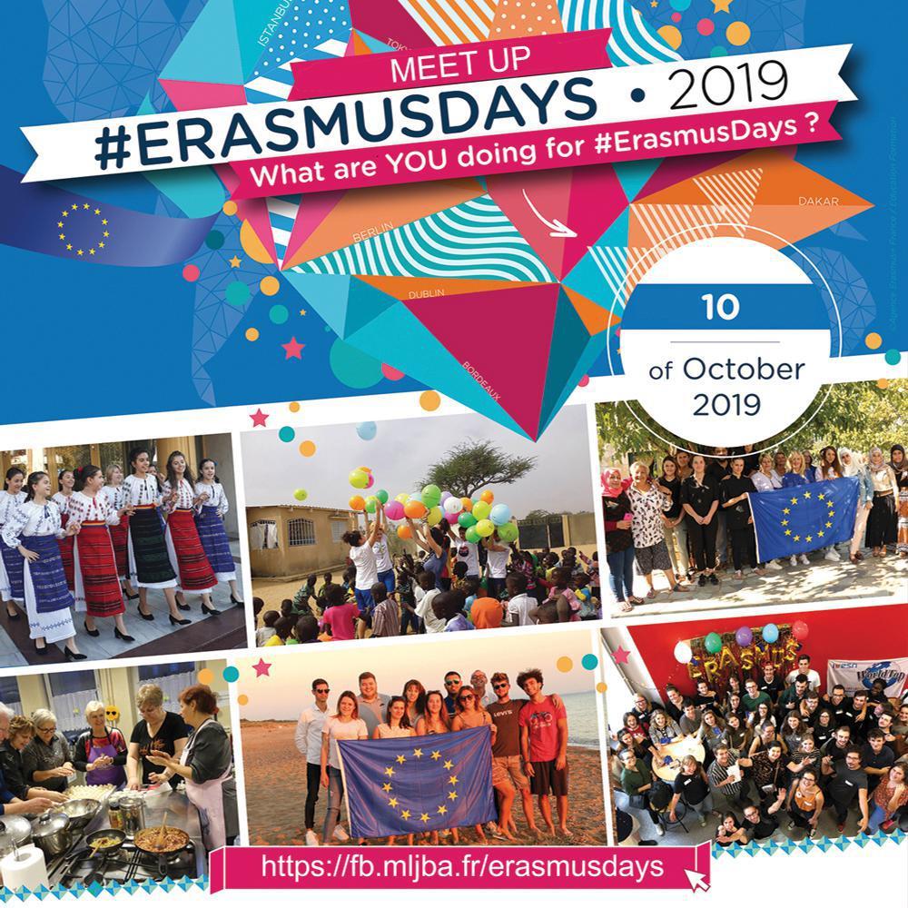 Communiqué de presse : La MLJBA célèbre l'Europe avec son MEET UP #Erasmusdays