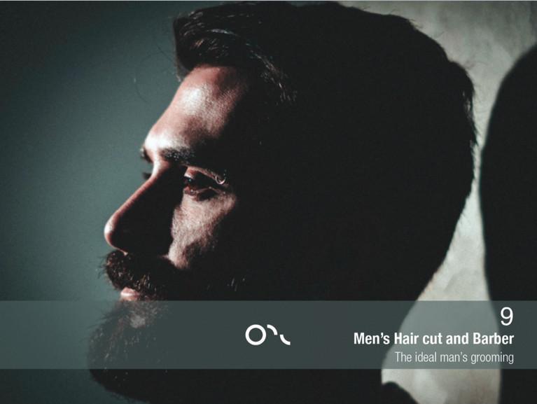 MEN'S HAIR CUT AND BARBER