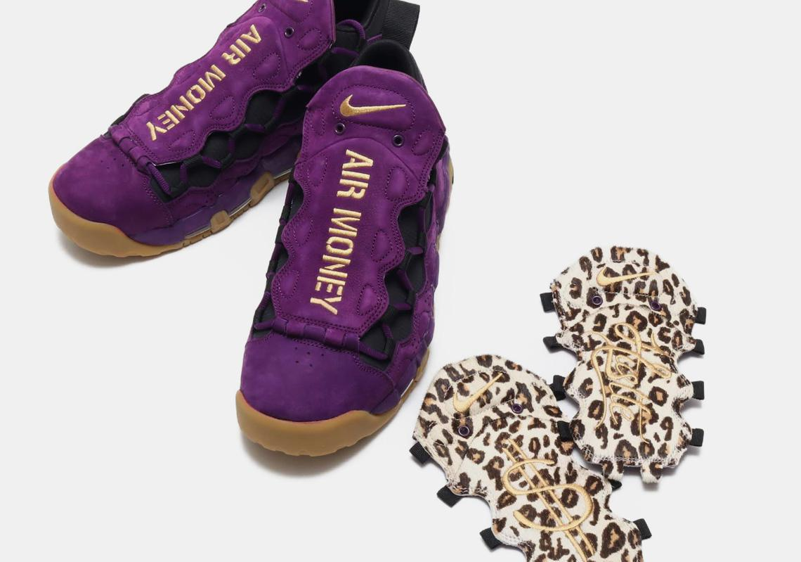 NIKE Air More Money Features Leopard Print