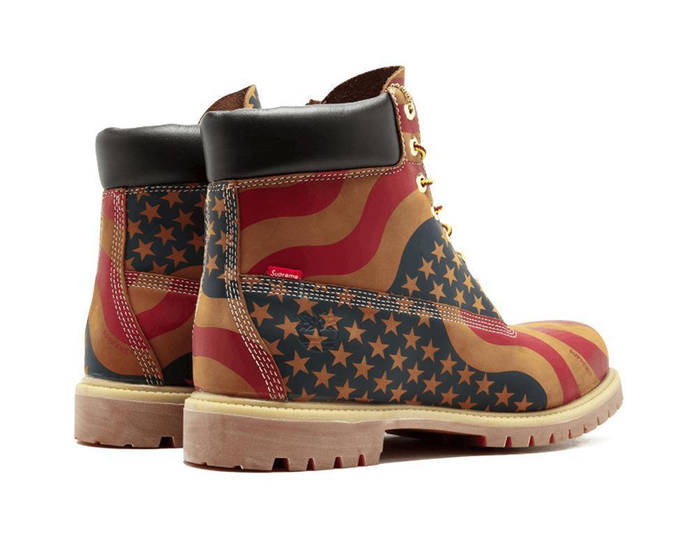 TIMBERLAND Boot x Supreme Stars & Stripes Wheat