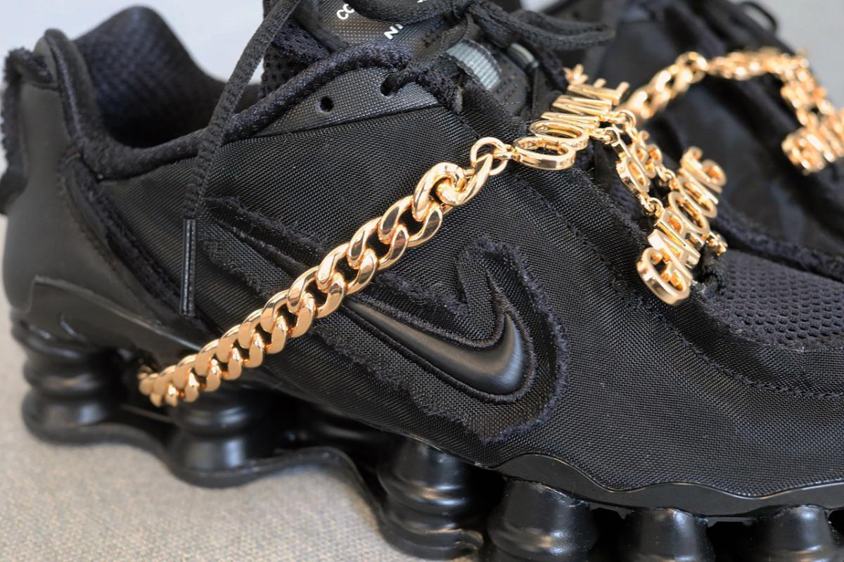 COMME des GARÇONS x Nike Shox TL en Triple Black