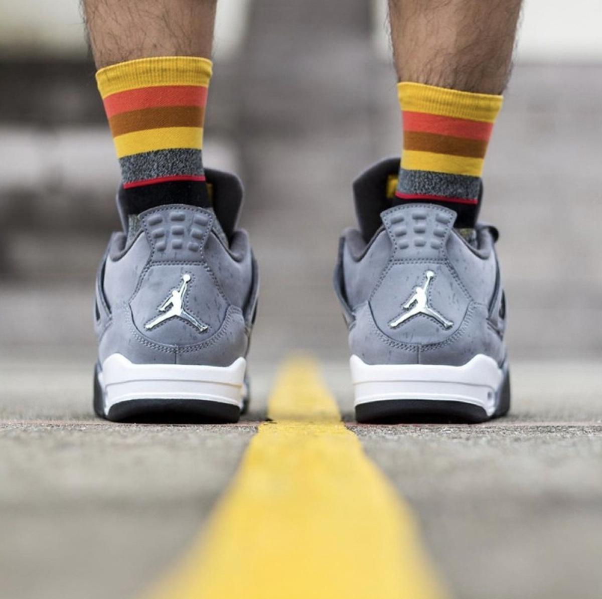 "On-Feet Look Air Jordan 4 ""Cool Grey"""