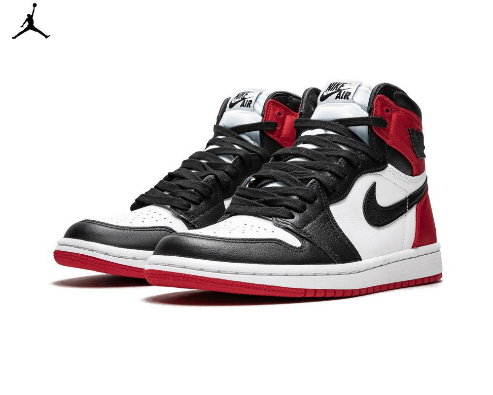 Air JORDAN I Satin Black Toe W