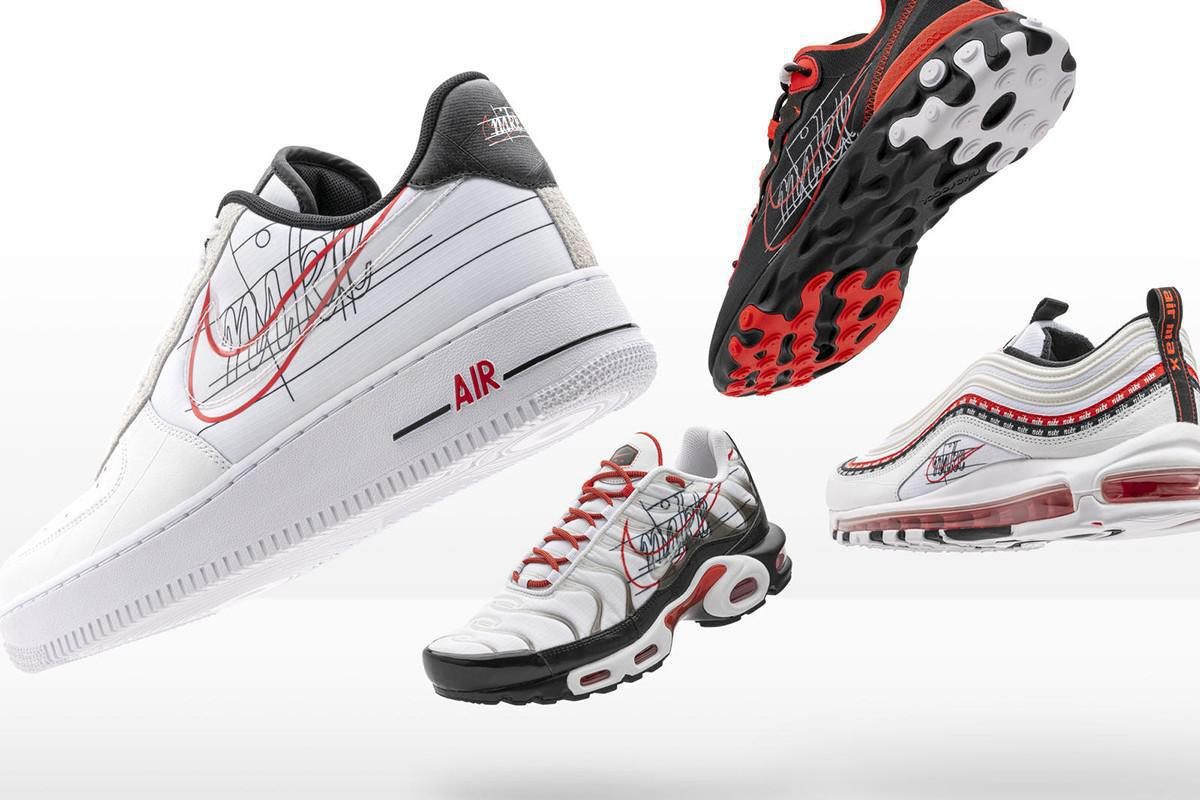 Nike célèbre l'évolution de la Swoosh avec de nouveaux packs de baskets