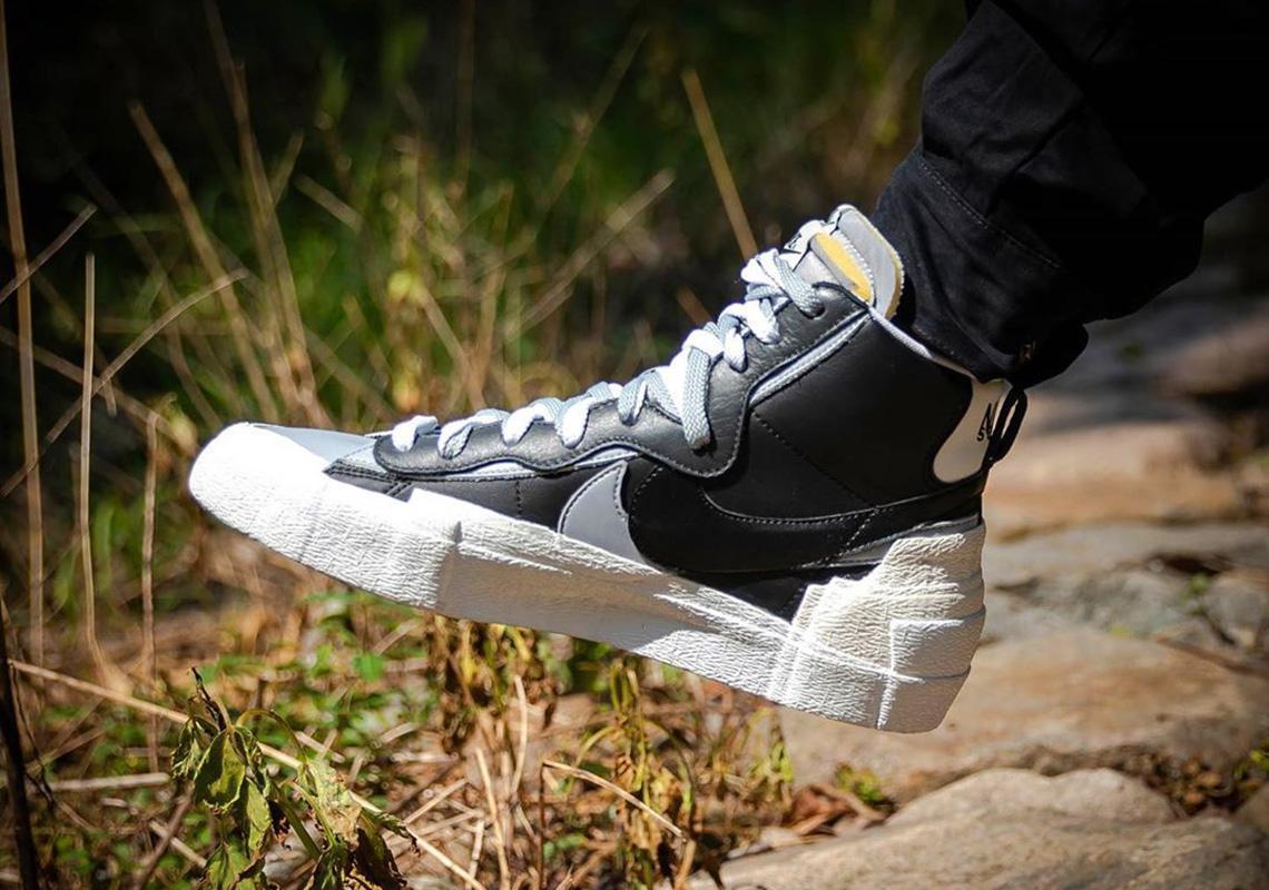 """Sacai x Nike Blazer Nike """"Greyscale""""."""