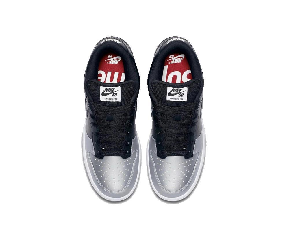 NIKE SB Dunk Low x Supreme Metallic Silver