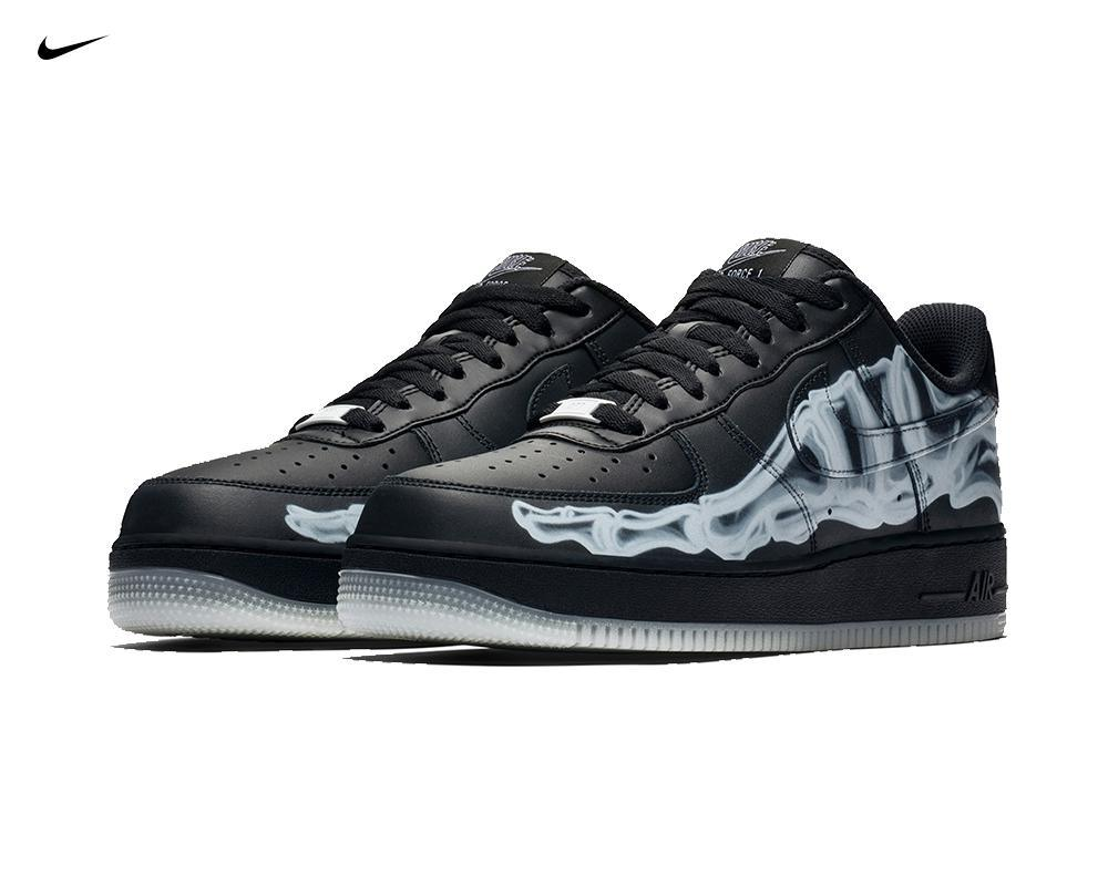 NIKE Air Force 1 Skeleton Halloween Black