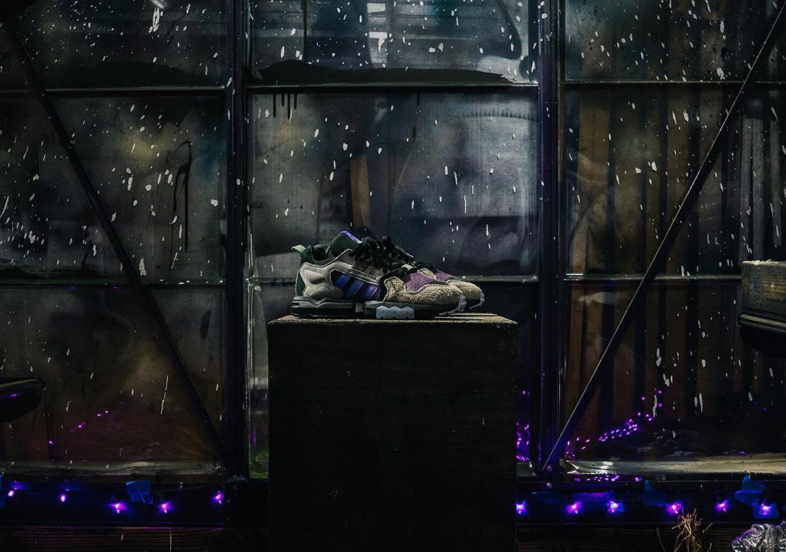 """Packer x adidas Consortium Zx Torsion """"Mega Violet"""" met en lumière les effets de la pollution"""