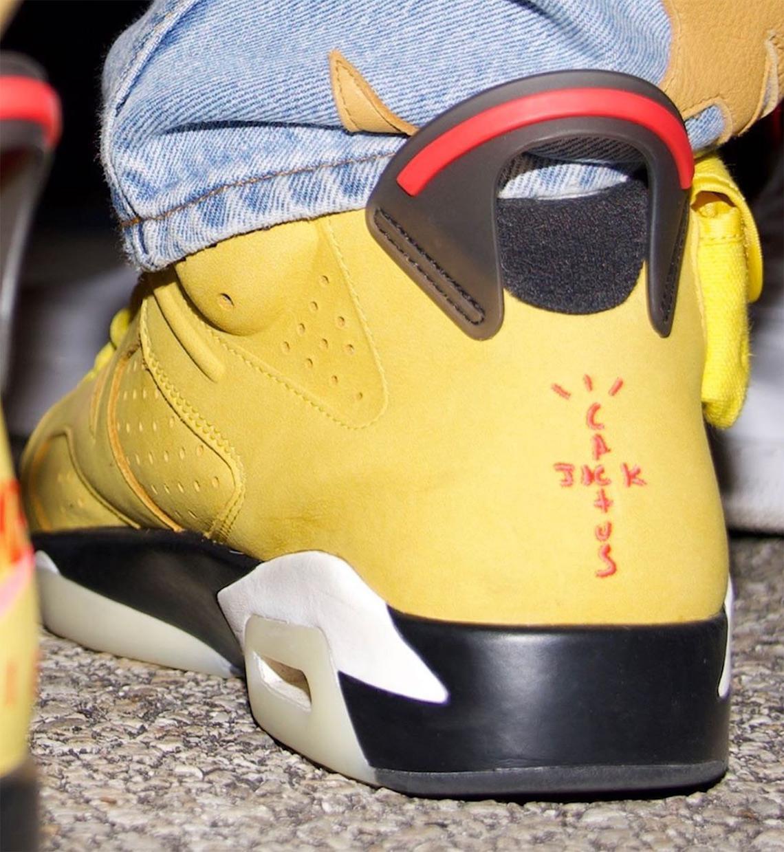 """Offset dévoile de plus près la Travis Scott x Air Jordan 6 """"Cactus Jack"""" en jaune"""