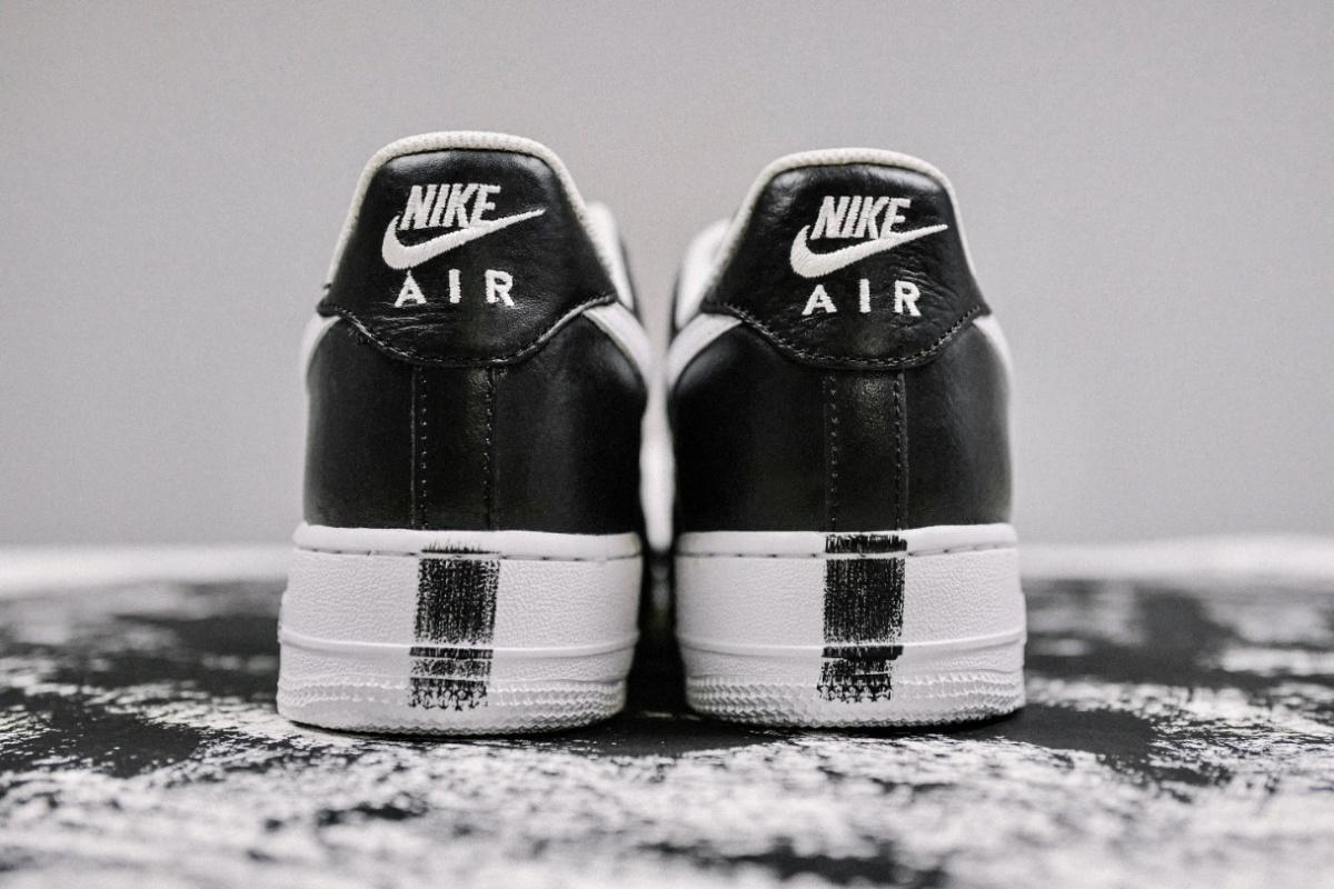 "Regardons de plus près la G-Dragon PEACEMINUSONE x Nike Air Force 1 ""Para-Noise""."