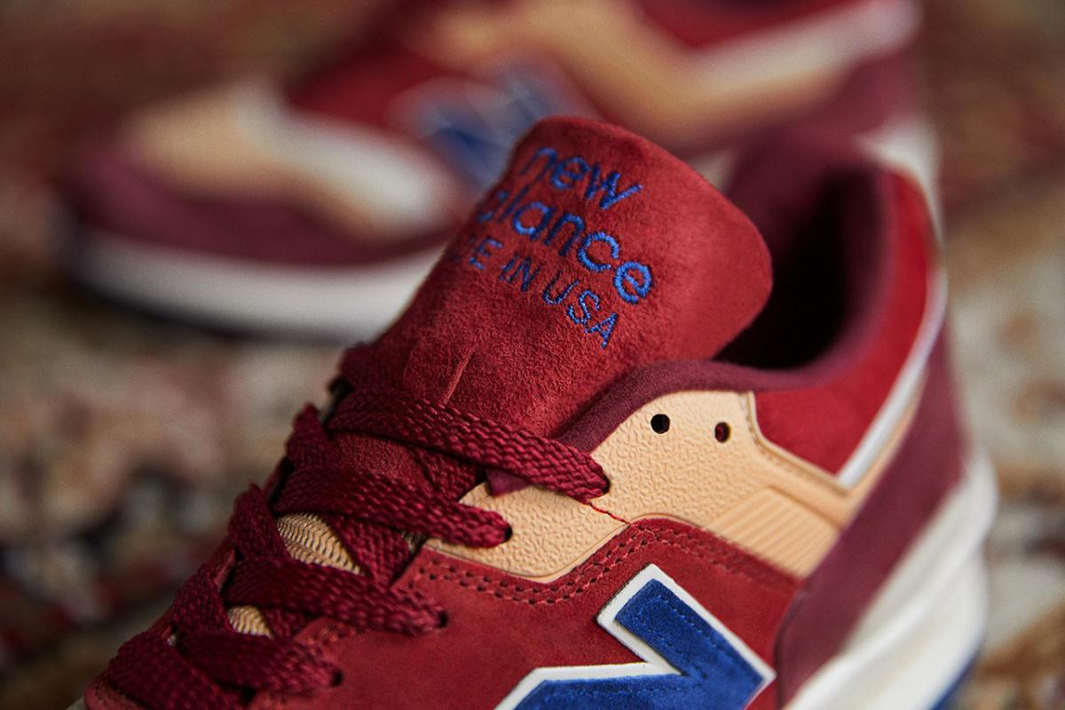 "END. x New Balance's 997 Made in USA avec l'inspiration ""Persian Rug""."