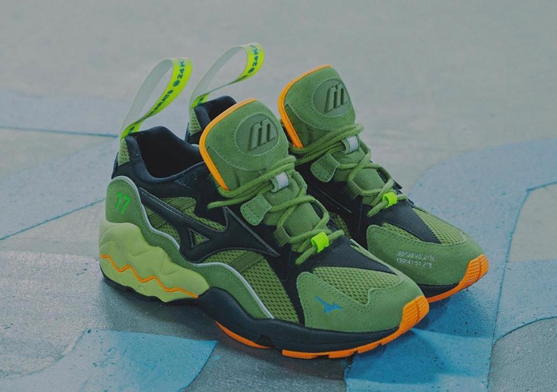 mita sneakers x 24Karats pour une Mizuno Wave Rider 1