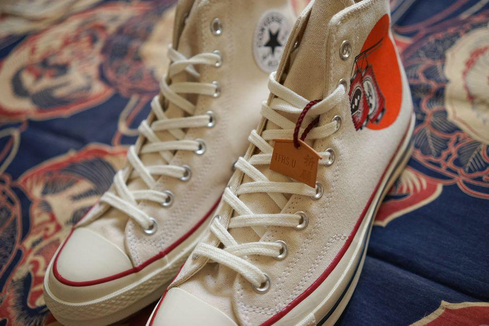 Flying Hawk Studio & Simple Union mettent à jour la Converse 1970 avec des éléments japonais traditionnels