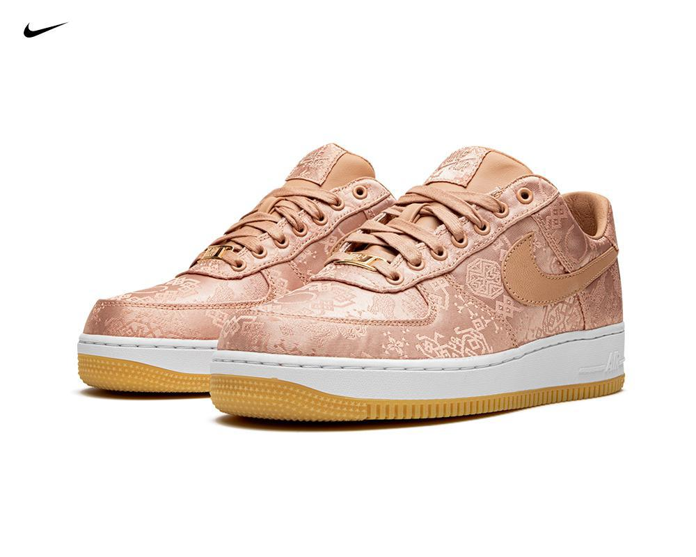 NIKE Air Force 1 x Clot Rose Gold Silk
