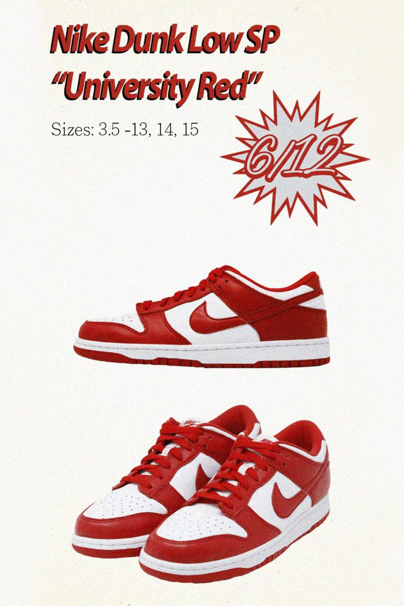 Nike annonce la sortie de Dunk Low SP Brazil, University Red et Champ Colors