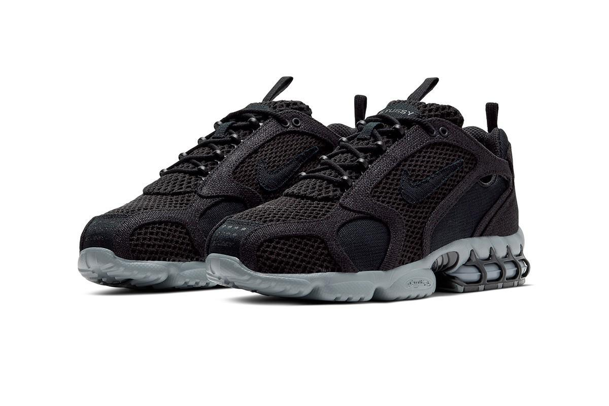 "Stüssy and Nike Ready Air Zoom Spiridon Cage 2 ""Black/Cool Grey"""