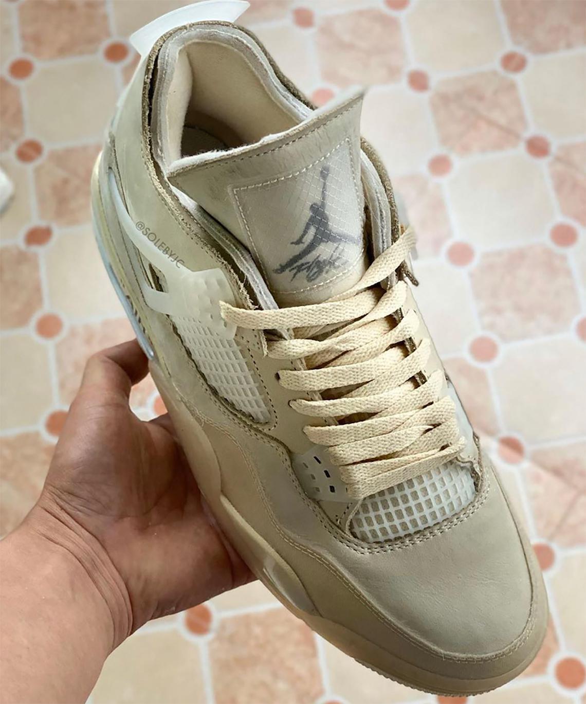 """La date de sortie de la Off-White x Air Jordan 4 """"Sail"""" est révélée"""