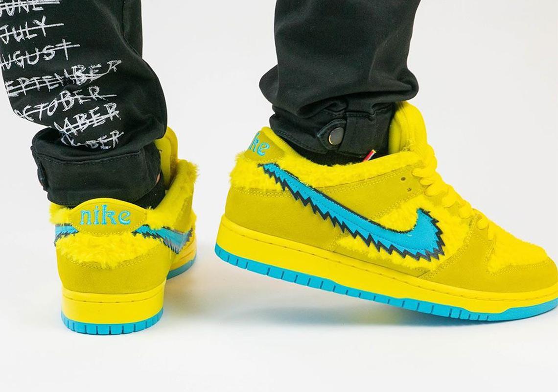 """The Grateful Dead x Nike SB Dunk Low """"Opti Yellow"""""""