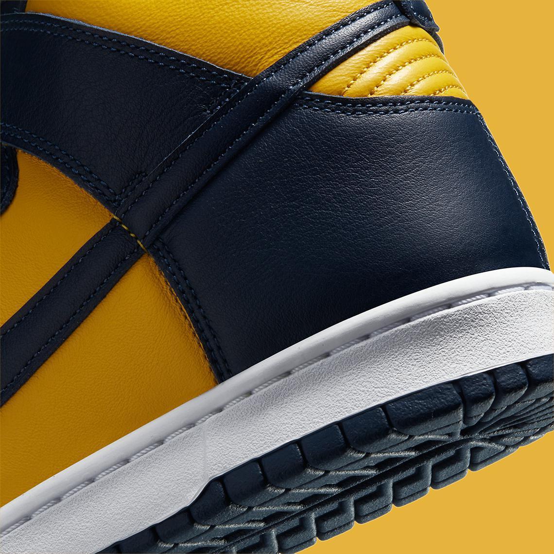 Images officielles de la Nike Dunk High SP Michigan