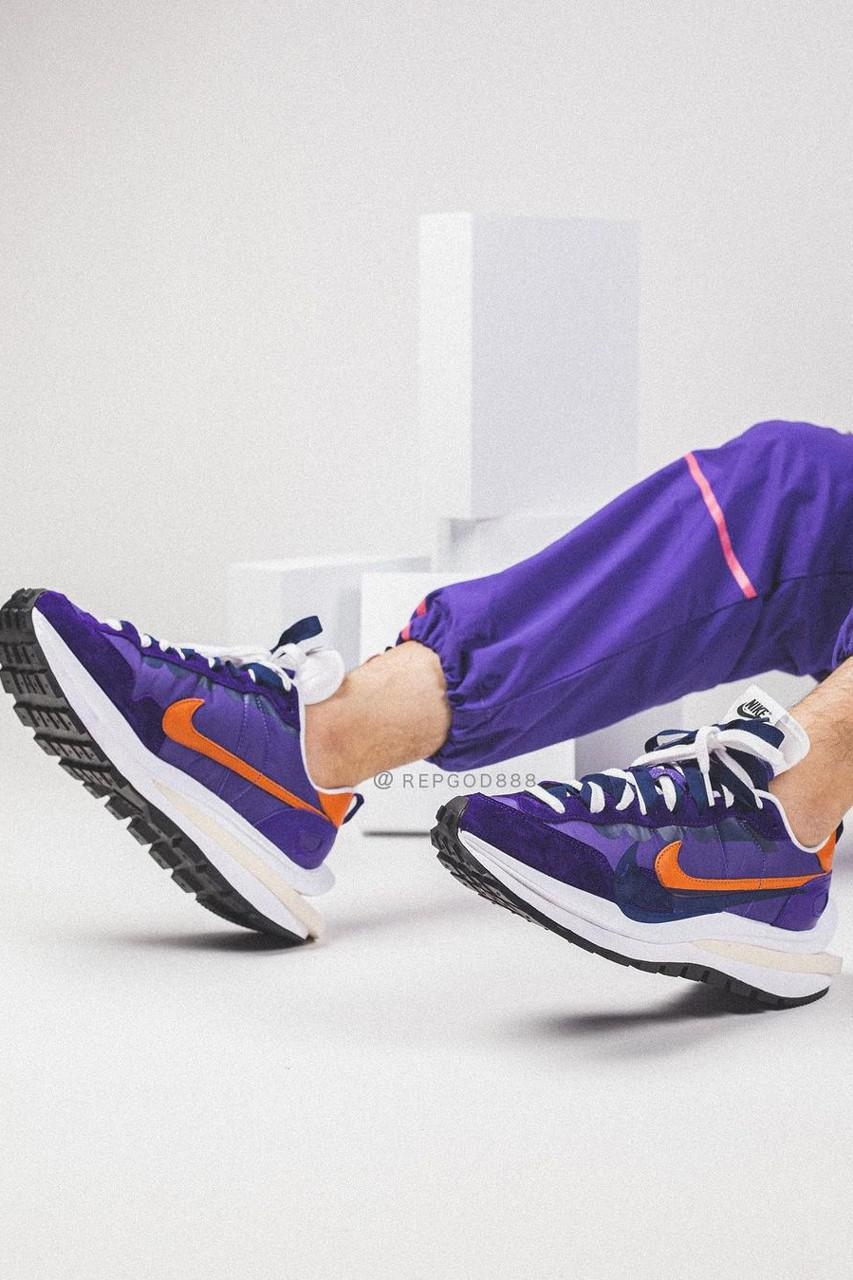Sacai x Nike Vaporwaffle Purple Orange
