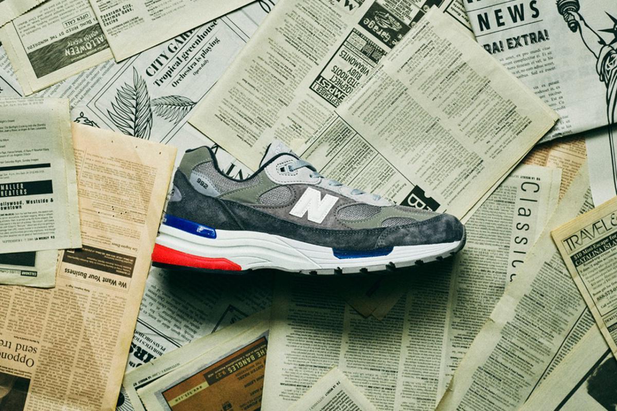 """La 992 """"Gray"""" de New Balance reçoit de subtiles couleurs américaines"""