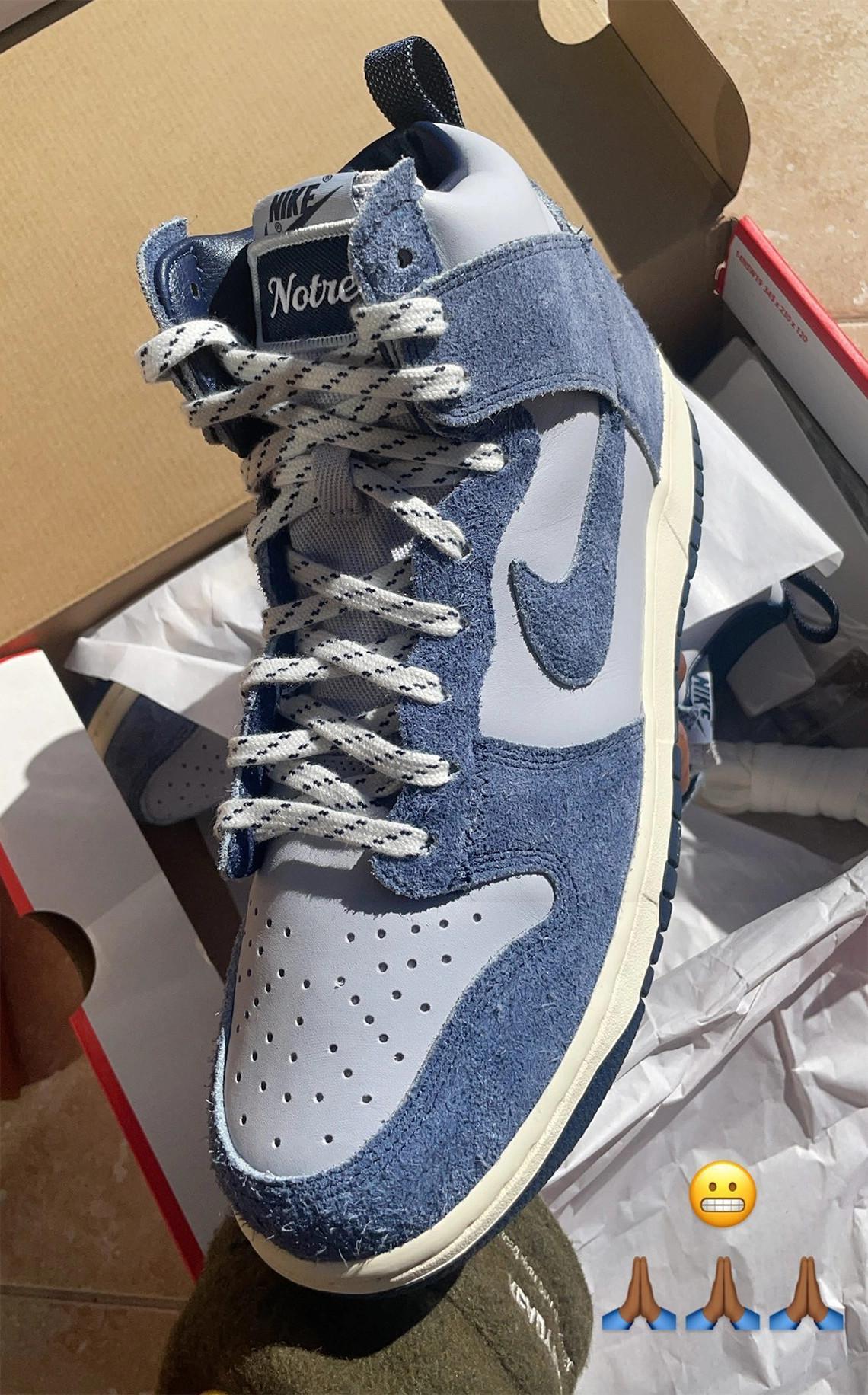 "Notre x Nike Dunk High ""Blue Void"""