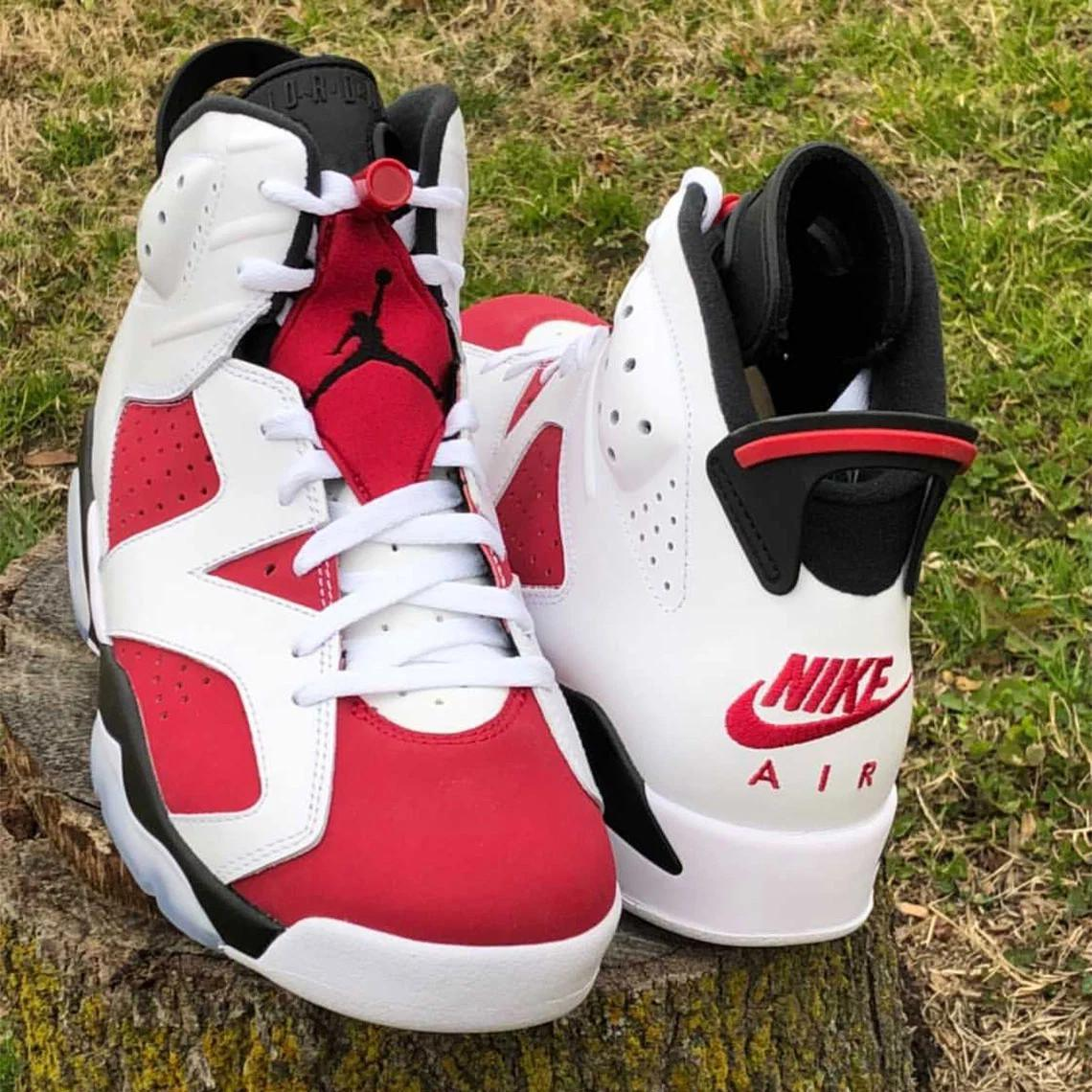 """La """"Carmine"""" d'Air Jordan 6 avec le Nike Air pour la première fois depuis 1991"""