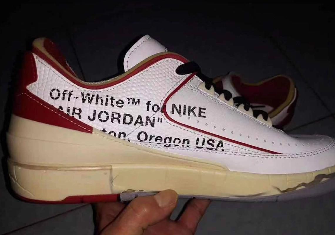 Off-White x Air Jordan 2 Low avec l'autographe de Michael Jordan