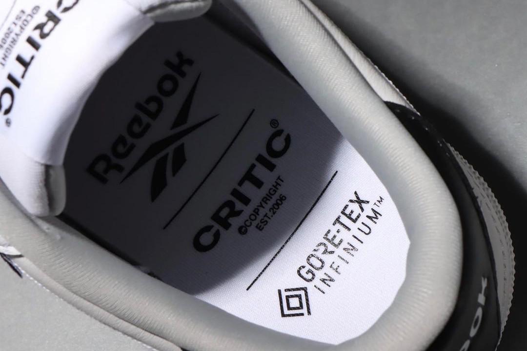CRITIC et Reebok sur une Club C 85 en GORE-TEX INFINIUM