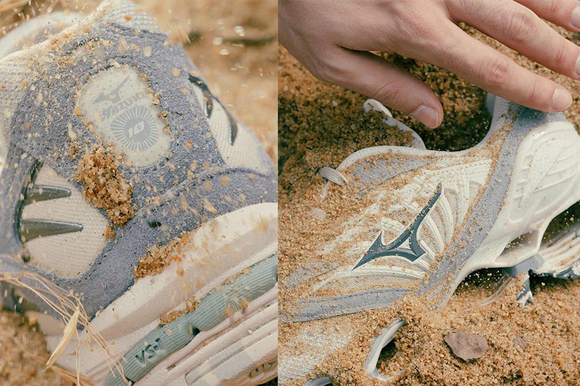 """La collaboration Mizuno """"Artefact Pack"""" de Footpatrol s'inspire des anciennes ruines japonaises."""