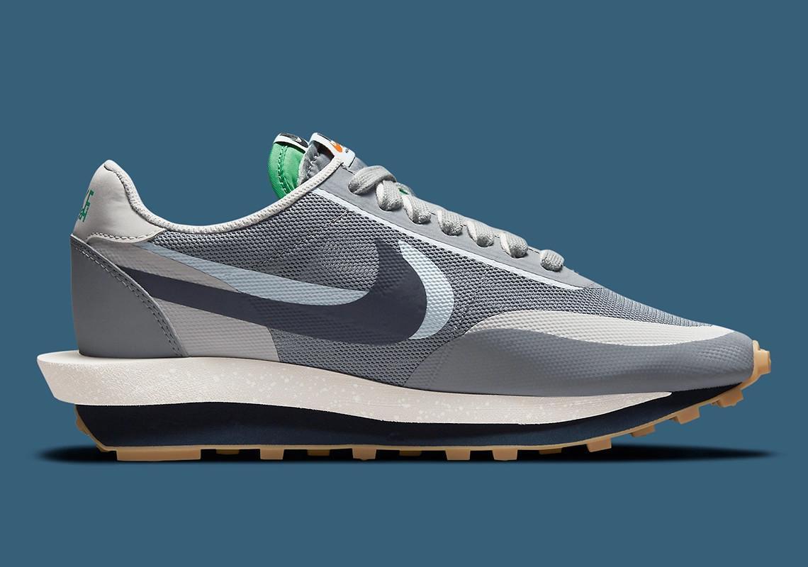 "CLOT x sacai x Nike LDWaffle ""Cool Grey"""