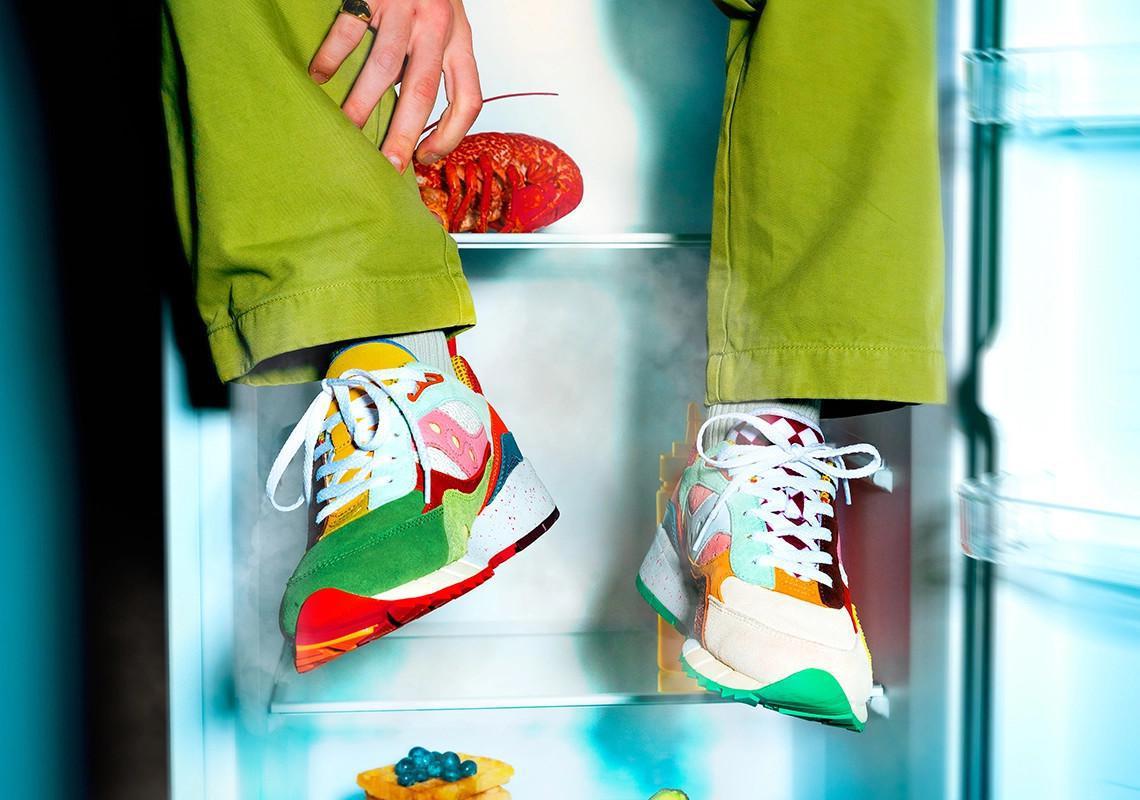 """La Saucony Shadow 6000 """"Food Fight"""" poursuit la série de sorties sur le thème de la gastronomie."""