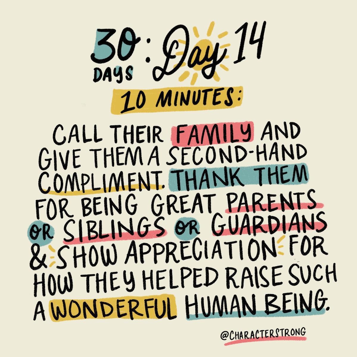 Day 14 Kindness Challenge