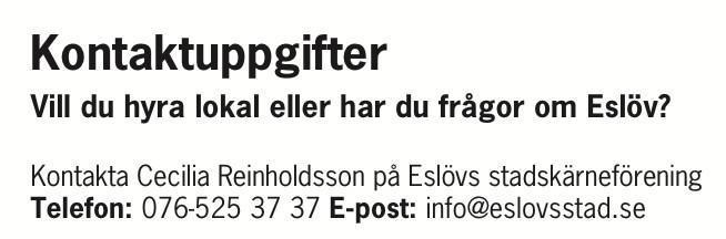 Funderar du på att etablera dig i Eslöv?