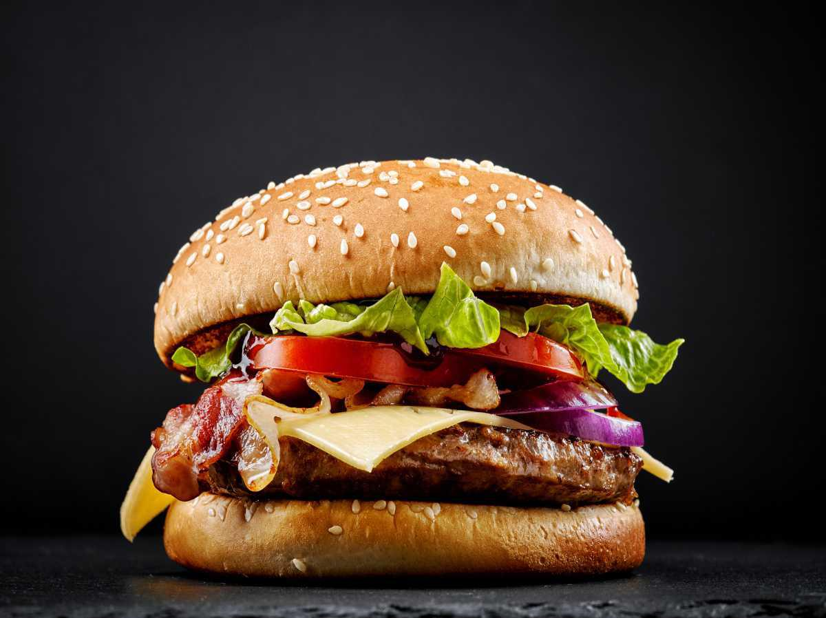 Eat a burger with friends and Simply Feel Good